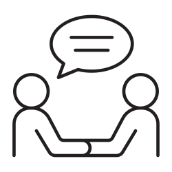 talking, speaking, meeting, business, people, discussion, consultant icon icon