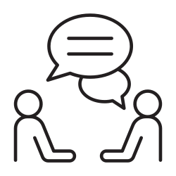 talking, speaking, meeting, people, appointment, discussion, consultant icon icon