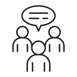 talking, speaking, meeting, language, people, appointment, discussion icon icon
