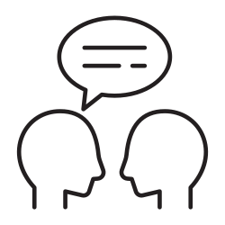 talking, speaking, presentation, language, people, appointment, meeting icon icon