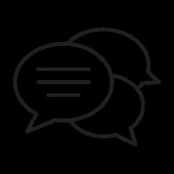 talking, speech, speaking, meeting, discussion, bubble, balloon icon icon