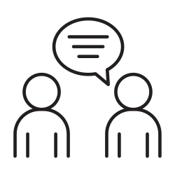 talking, speech, speaking, meeting, business, people, appointment icon icon