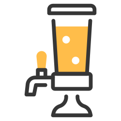 tap, bar, drink, alcohol, beer, dispenser, tower icon icon