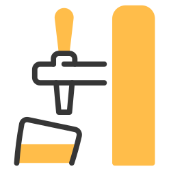 tap, beverage, bar, drink, alcohol, beer, pub icon icon