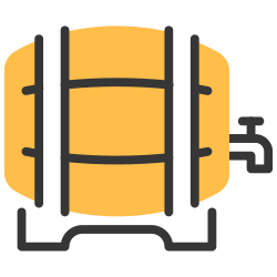 tap, retro, wood, barrel, beer, keg, container icon icon