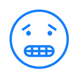teeth, worried, face icon icon