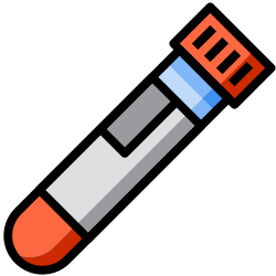 test tube, lab, lineal, medical, blood, color, covid icon icon