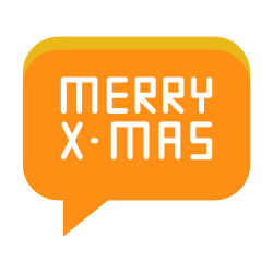 text, greeting, conversation, merry, message, christmas icon icon