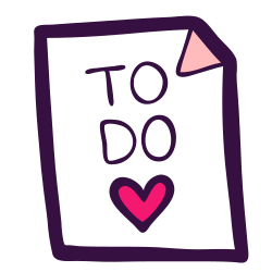 to do, done, document, task, heart, checkbox, list icon icon