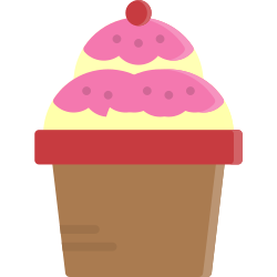 topping, cream, cup, sweet, dessert, ice, food icon icon