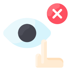 touch, hand, eye, not, avoid icon icon