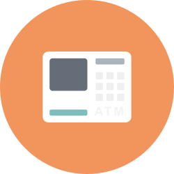 transaction, finance, money, atm, machine, bank, finantix icon icon