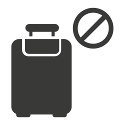 travel ban, tourist, infection, restrictions icon icon