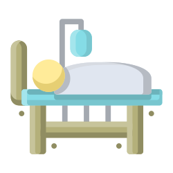 treatment, coronavirus, case, hospital, patient, covid19 icon icon