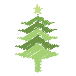 tree, christmas, decoration, ornaments, holiday, scribble, xmas icon icon