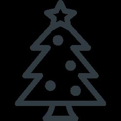 tree, ornament, star, christmas, pine icon icon