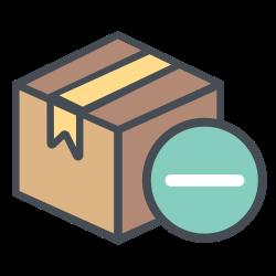 truck, boxperspectiveminus, transportation, minus, shipping, box, logistic icon icon