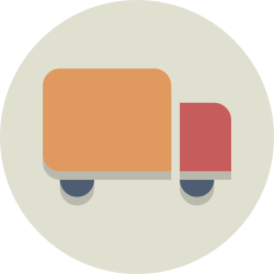 truck, delivery, transportation, shipping icon icon