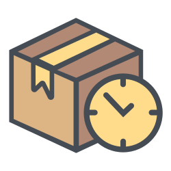 truck, time, boxperspectivedelay, transportation, shipping, delay, logistic icon icon