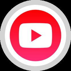 tube, media, you, logo, social icon icon