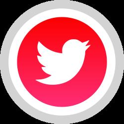 twitter, media, logo, social icon icon