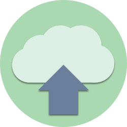upload, database, storage, download, save, data, cloud, guardar icon icon