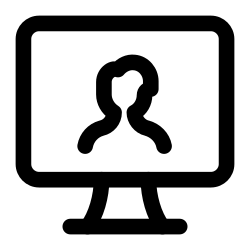user, computer, hardware, computers, screen, and icon icon
