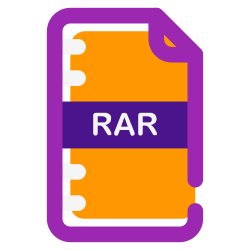 user, download, folder, documents, rar, document, file icon icon