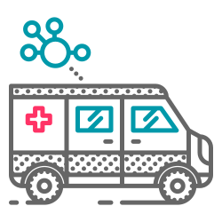 vehicle, virus, emergency, ambulance, health, coronavirus, covid19 icon icon