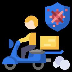 vespa, shipping, coronavirus, motorcycle, delivery icon icon
