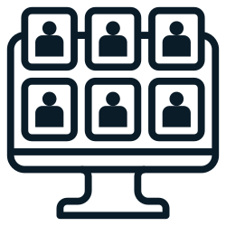 videocall, meeting0, video, group, conferencing, work, communication icon icon