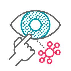 virus, contamination, eye, infection, coronavirus, covid19, touch icon icon