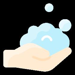 wash, soap, hygiene, hand, bubble icon icon