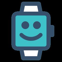 watch, smile, emoticon, smart, smart watch icon icon