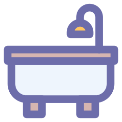 water, bathtub, foam, bathroom, bubble icon icon