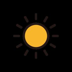 weather, sun, sunny, temperature icon icon