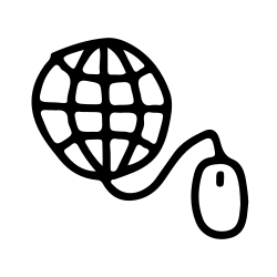 web, finance, hand, internet, drawn, mouse icon icon