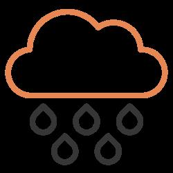 wet, cloud, drop, raindrop, water, weather, rain icon icon