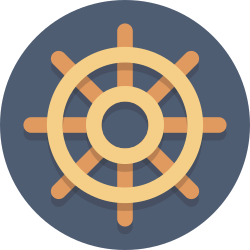 wheel, steering wheel icon icon