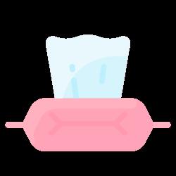 wipes, hygiene, tissue, wet, clean icon icon