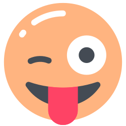 with, face, winking, tongue icon icon