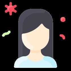 woman, bacteria, people, virus icon icon