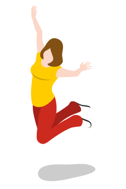 woman, female, jumping, person, girl, avatar, user icon icon
