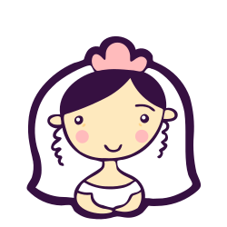 woman, girl, bride, love, heart, avatar, person icon icon