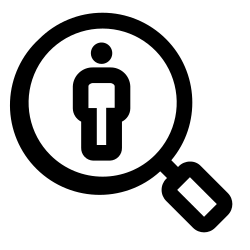 work, human, organization, profile, search, business icon icon