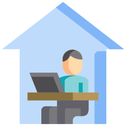 work, quarantine, office, protection, house, home, covid icon icon