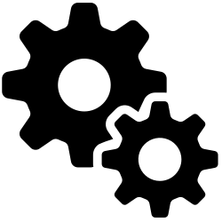 working, productivity, gear, processing, progress, efficiency, rotation icon icon
