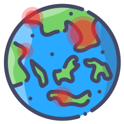 world, earth, internet, globe, global, pandemic icon icon
