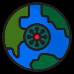 world, virus, global, coronavirus, covid19 icon icon