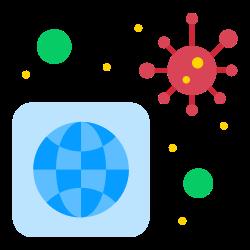 worldwide, bacteria, virus, infected icon icon
